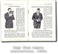 Page from camera instructions, 1920s